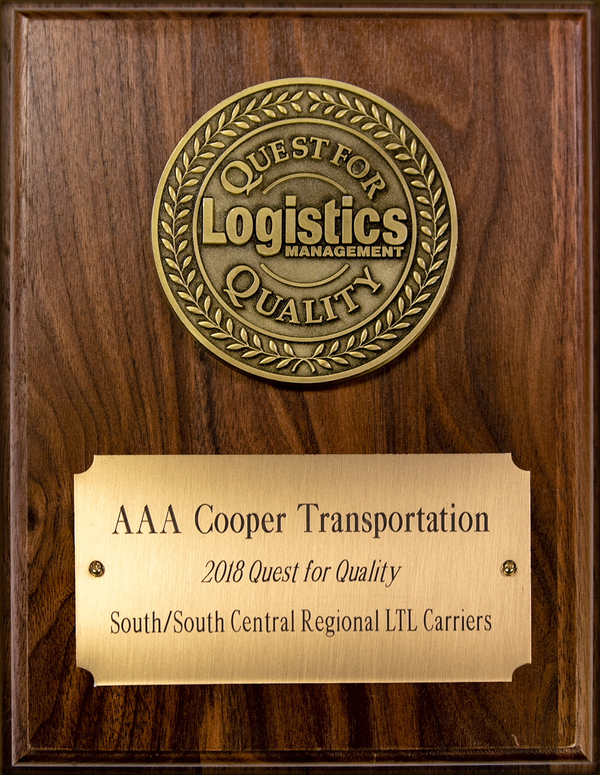 2018 Quest For Quality award in the South/South Central regional LTL carriers category