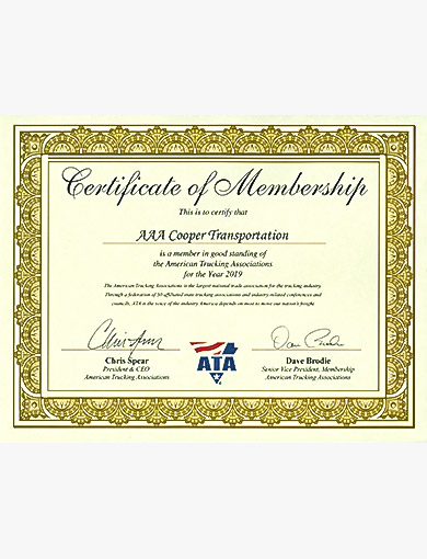 ATA Certificate of Membership